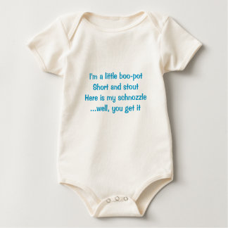 Baby tee-I'm a little boo-pot, short and stout Baby Bodysuits