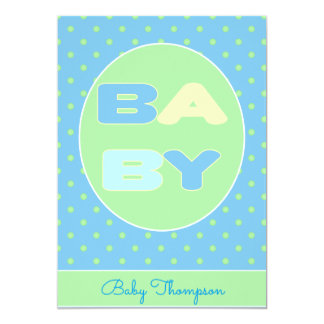 Baby Text Shower Invitation (Blue)
