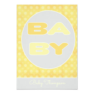 Baby Text Shower Invitation (Yellow)
