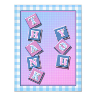 Baby Thank You Cards 11 Cm X 14 Cm Invitation Card
