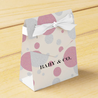 Baby Tiffany Girl Polka Dot Baby Party Favor Boxes Favour Boxes