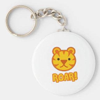Baby Tiger Cartoon Basic Round Button Key Ring