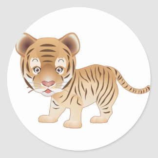 Baby Tiger Classic Round Sticker