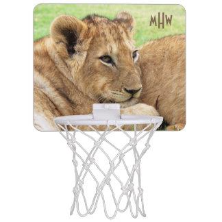 Baby Tiger custom monogram mini hoop