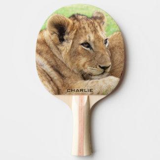 Baby Tiger custom monogram ping pong paddle
