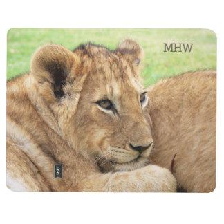 Baby Tiger custom monogram pocket journal