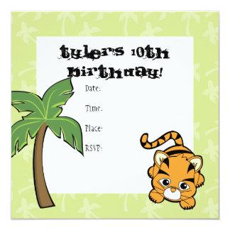 Baby Tiger Cutie 13 Cm X 13 Cm Square Invitation Card