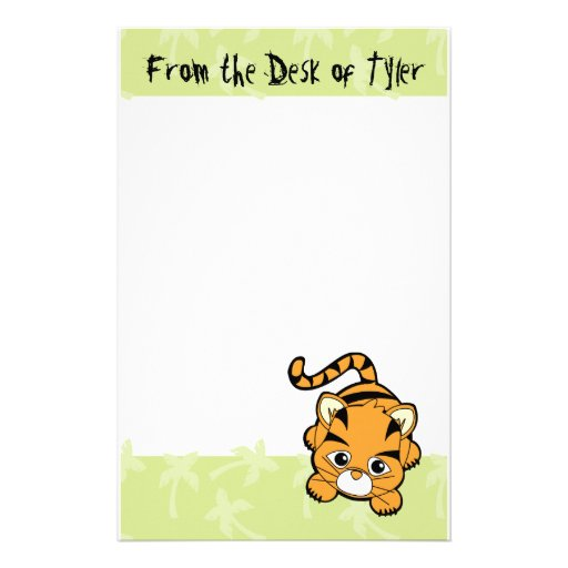 Baby Tiger Cutie Personalised Stationery