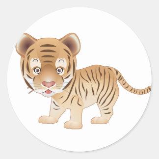 Baby Tiger Round Sticker
