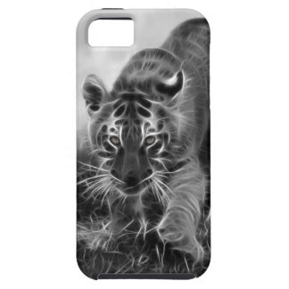 Baby Tiger stalking in Black and white iPhone 5 Cases