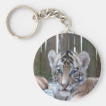 baby tiger waiting mom love keychain