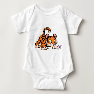 Baby Tiger with butterfly Baby Bodysuit