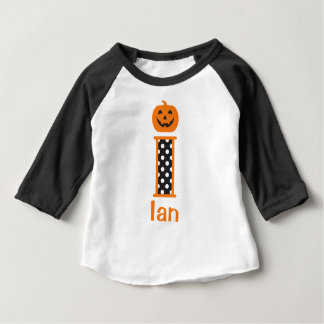 Baby/Toddler Boy Halloween Pumpkin Tee Initial i