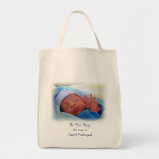 Baby Totes Best Things do come in Small Packages Canvas Bag