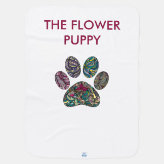 Baby towel, cute & unique flowered puppy paws baby blanket