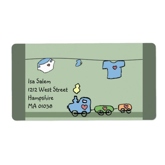 Baby  toys - baby shower label for boy & girl shipping label