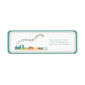 Baby Train Address Label