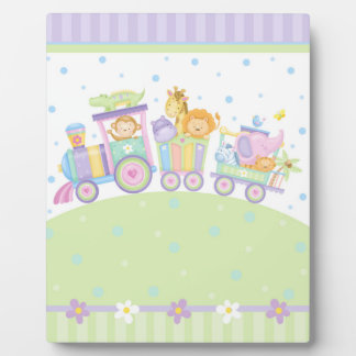 Baby Train Art Easel Plaque