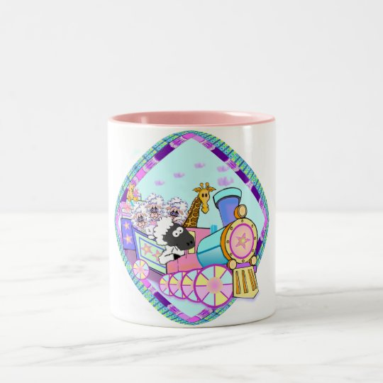 Baby Train Baby Gifts Two-Tone Coffee Mug