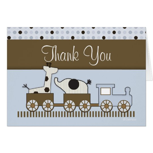 Baby Train Thank You Card