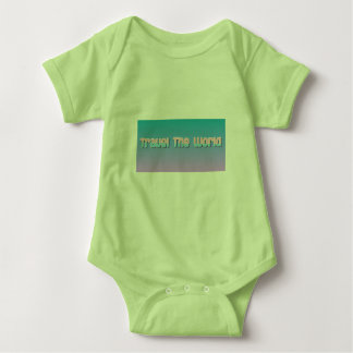 baby travel the world baby bodysuit