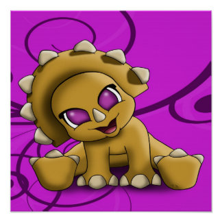 Baby Triceratop Poster Poster