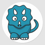 Baby Triceratops Round Stickers