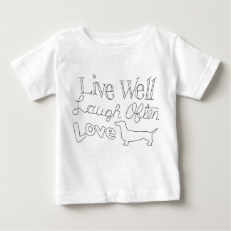 "Baby Tshirt ""LIVE WELL"""