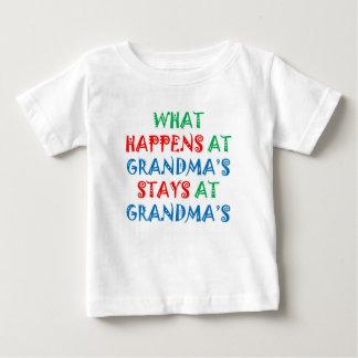 Baby TShirt: What Happens at Grandma's Baby T-Shirt