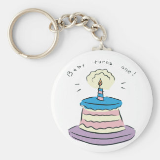 Baby Turns One! Key Chain