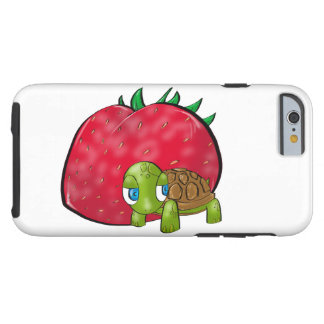 Baby Turtle and Juicy Strawberry Tough iPhone 6 Case