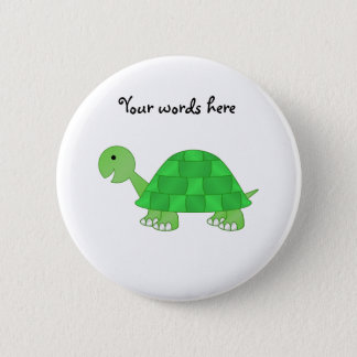 Baby turtle in green fade 6 cm round badge