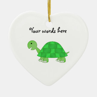 Baby turtle in green fade christmas ornament