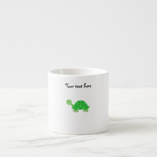 Baby turtle in green fade espresso cup