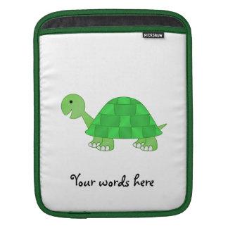 Baby turtle in green fade iPad sleeve