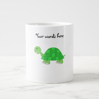Baby turtle in green fade large coffee mug