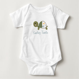 Baby Turtle Infant Bodysuit Blue Diaper Pin