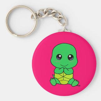 Baby turtle key ring