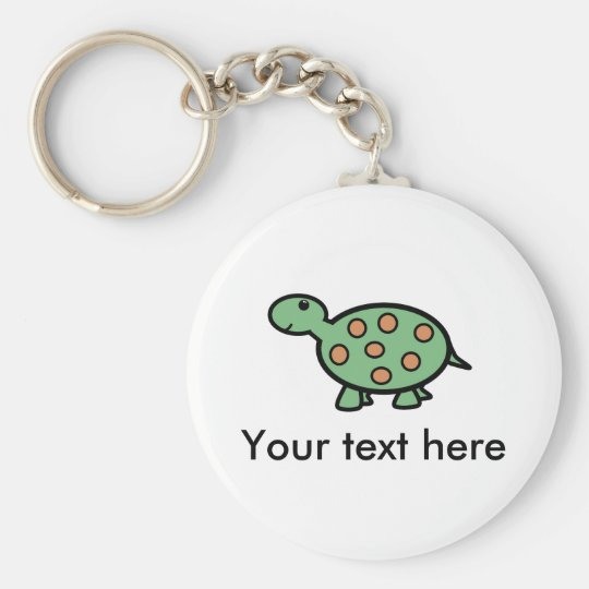 Baby turtle key ring
