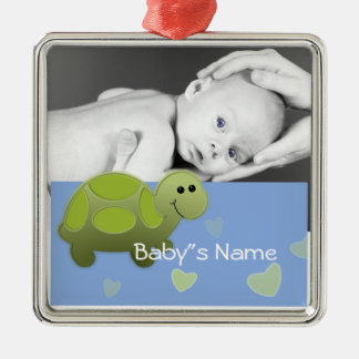 Baby Turtle/Photo Christmas Ornament