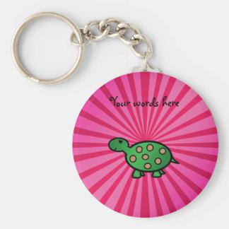 Baby turtle pink sunburst keychains