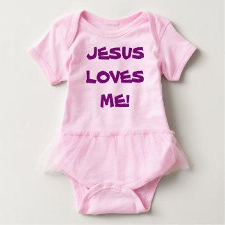 Baby Tutu Body Suit - Jesus Loves Me Baby Bodysuit