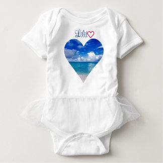 Baby   Tutu   Body Suit   Ocean   Heart Baby Bodysuit