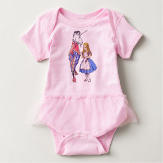 Baby tutu bodysuit with Alice & Unicorn design
