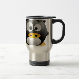 Baby Tux cow Stainless Steel Travel Mug