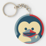 Baby Tux Linux Basic Round Button Key Ring