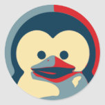 Baby Tux Linux Classic Round Sticker
