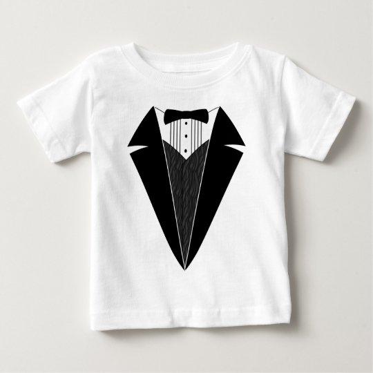 Baby Tuxedo, Black + White Baby T-Shirt
