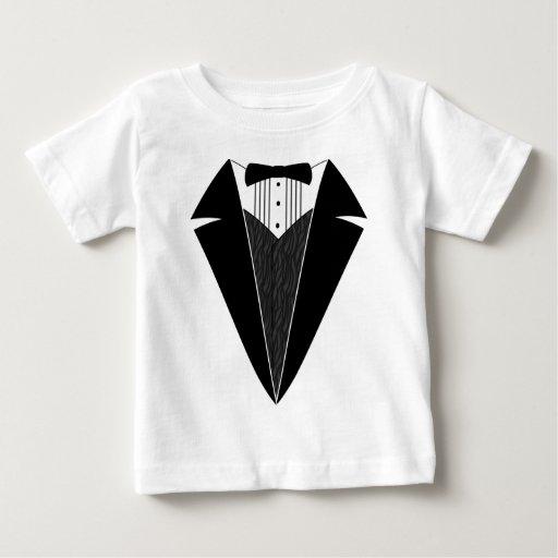 Baby Tuxedo, Black + White Tee Shirt