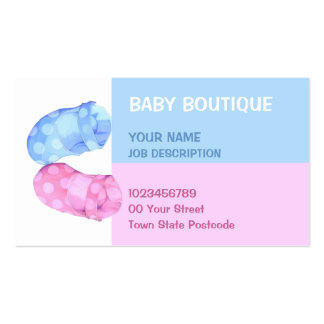 Baby Twins Booties Business Card